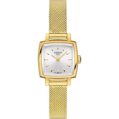 Tissot Lovely Square Mesh Strap Watch, 20Mm