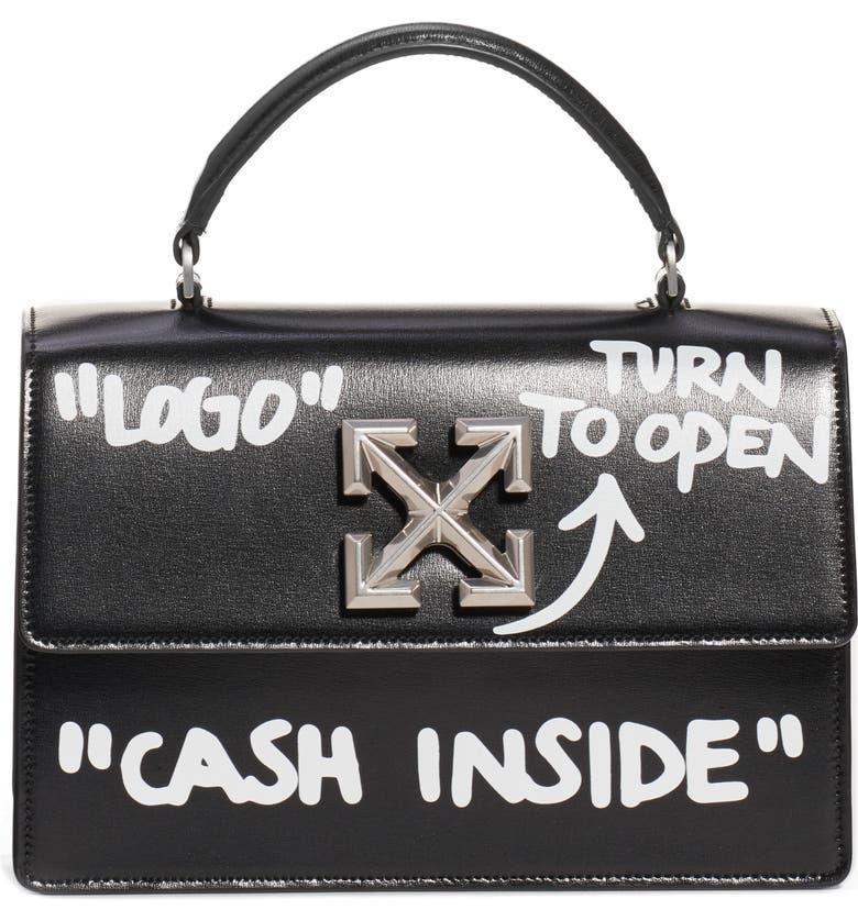 OFF-WHITE Jitney 1.4 Cash Inside Handbag, Main, color, 001