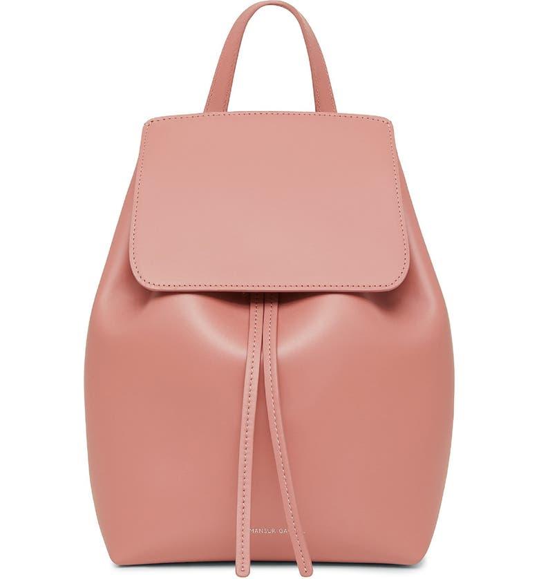 MANSUR GAVRIEL Mini Leather Backpack, Main, color, 650