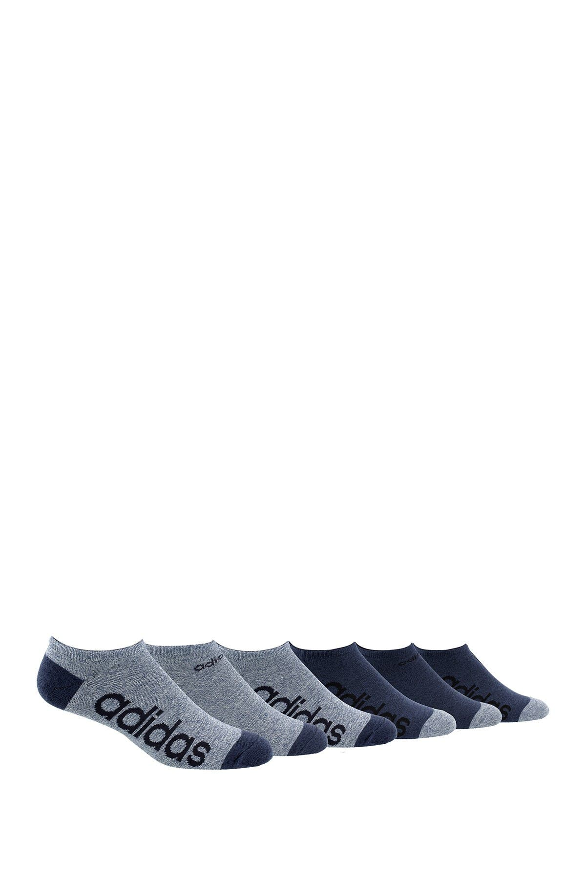 Image of adidas No Show Linear Logo Socks - Pack of 6