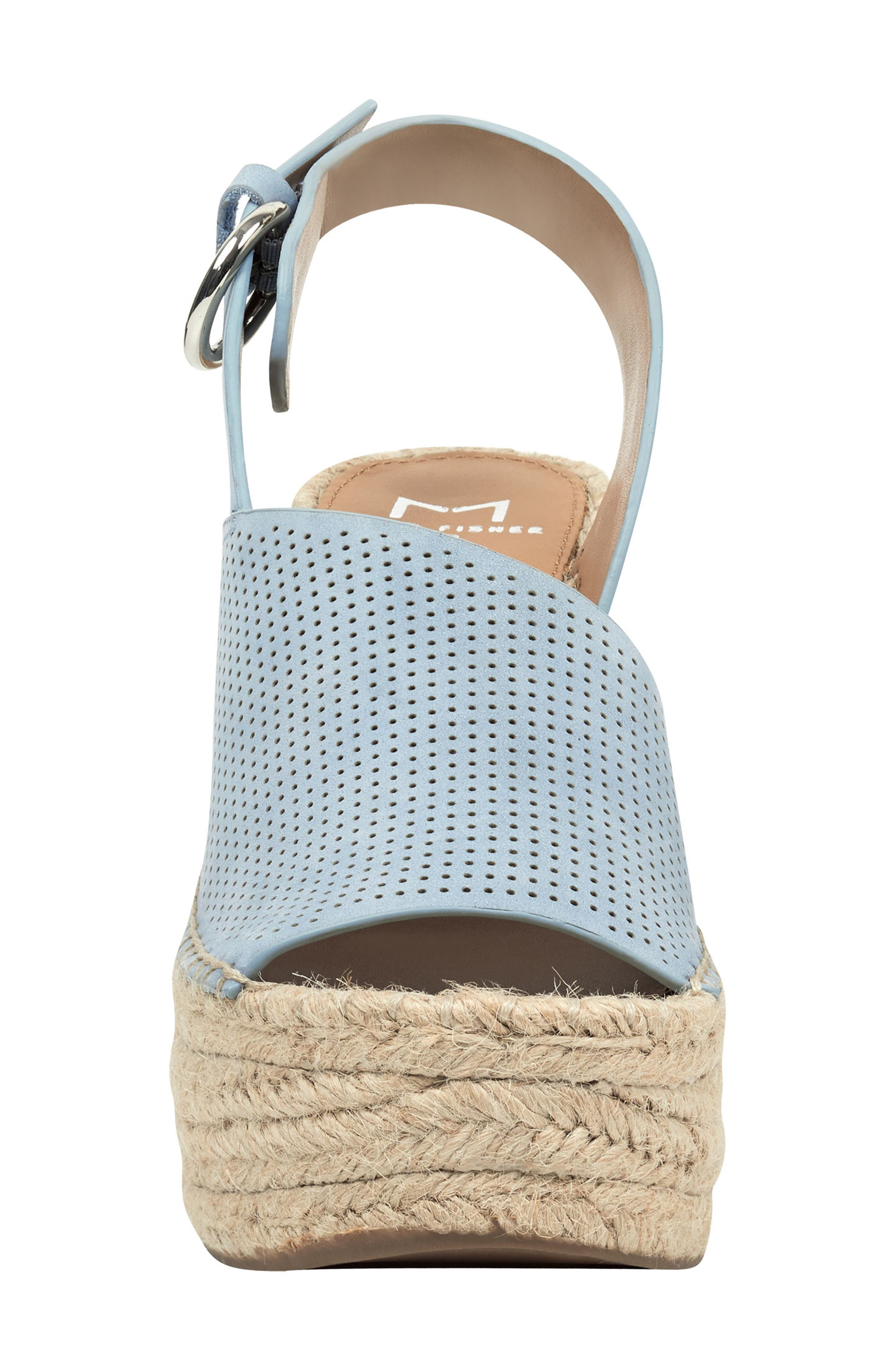 ,                             Andela Slingback Espadrille Wedge,                             Alternate thumbnail 4, color,                             LIGHT BLUE NUBUCK