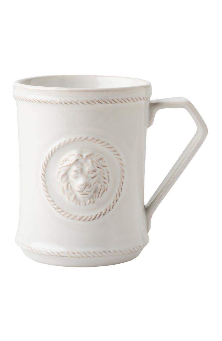 JULISKA Berry & Thread Ceramic Mug, Main, color, WHITE