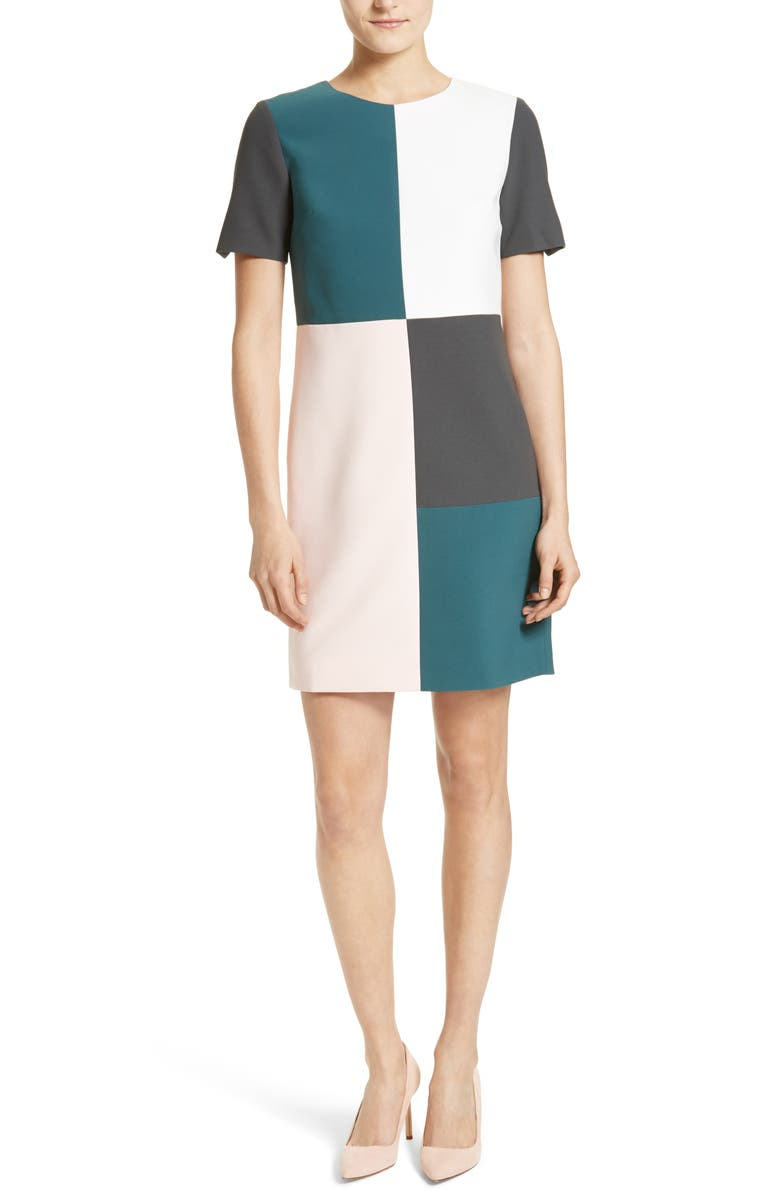 TED BAKER LONDON Ardell Colorblock Dress, Main, color, 440
