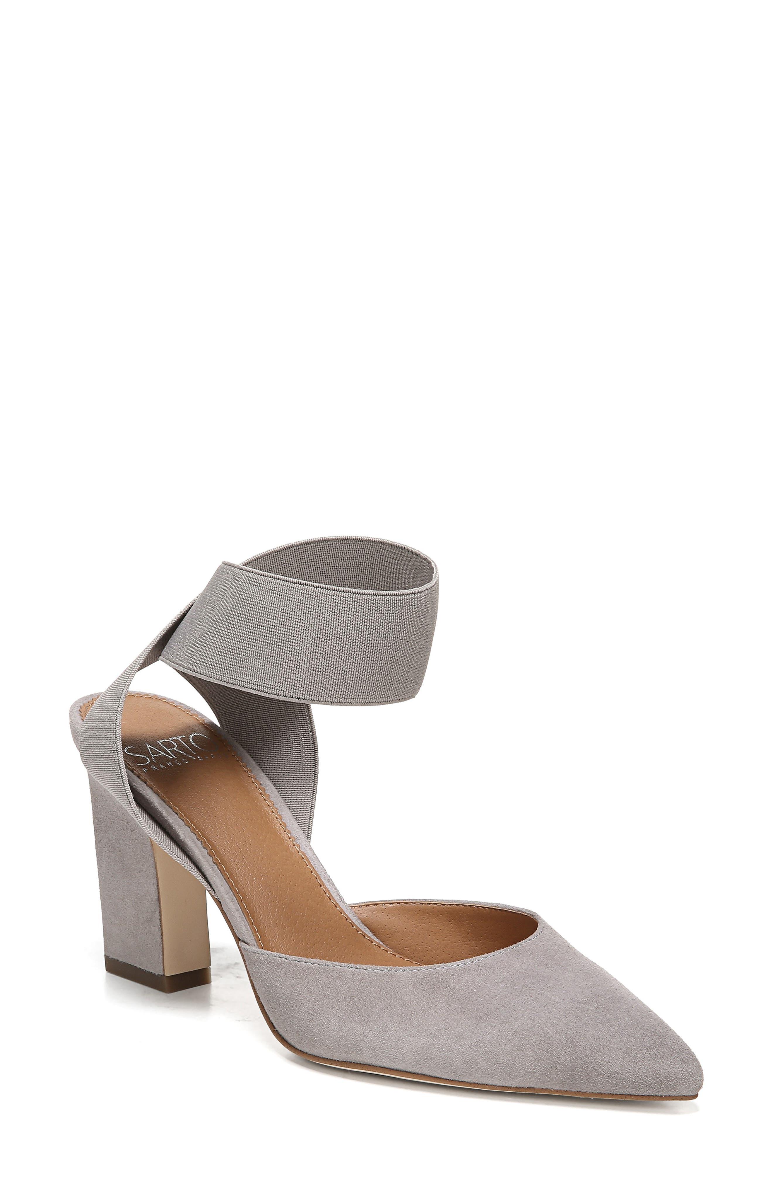 Sarto By Franco Sarto Stella Ankle Wrap Pump, Grey