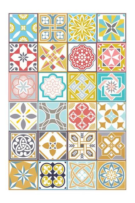 Image of WalPlus Malia Colourful Home Wall Tile Stickers