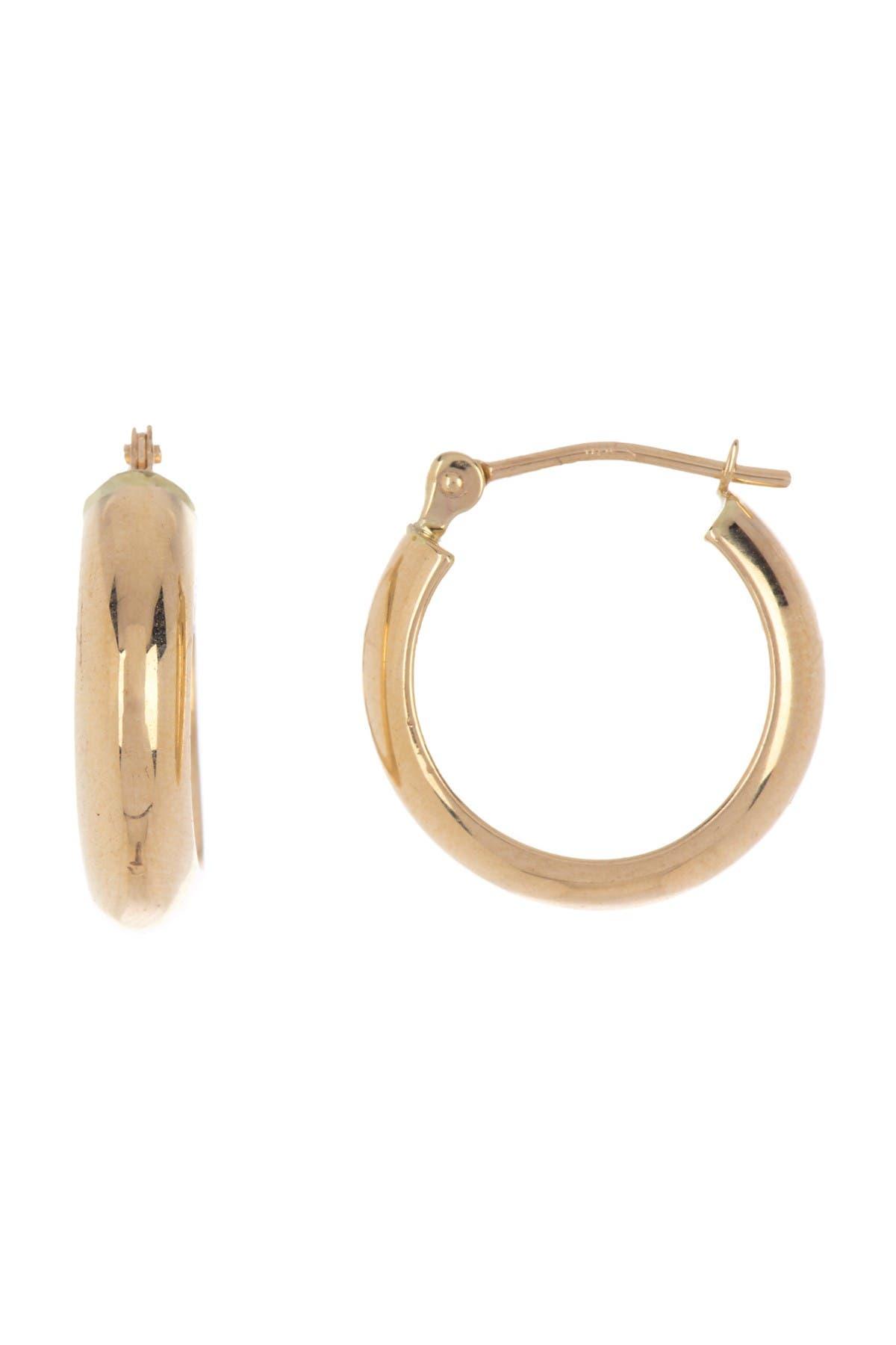 Image of Candela 14K Yellow Gold 15mm Polished Hoop Earrings