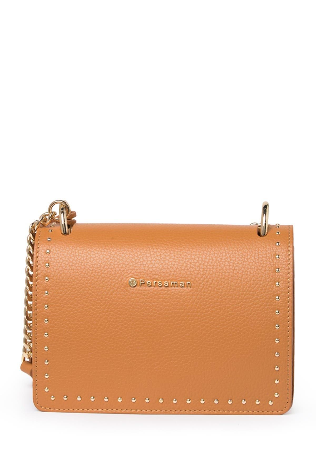 Image of Persaman New York Raphaelle Studded Leather Crossbody Bag