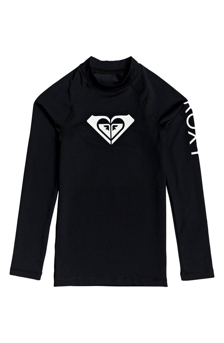 ROXY Whole Hearted Long Sleeve Rashguard, Main, color, ANTHRACITE