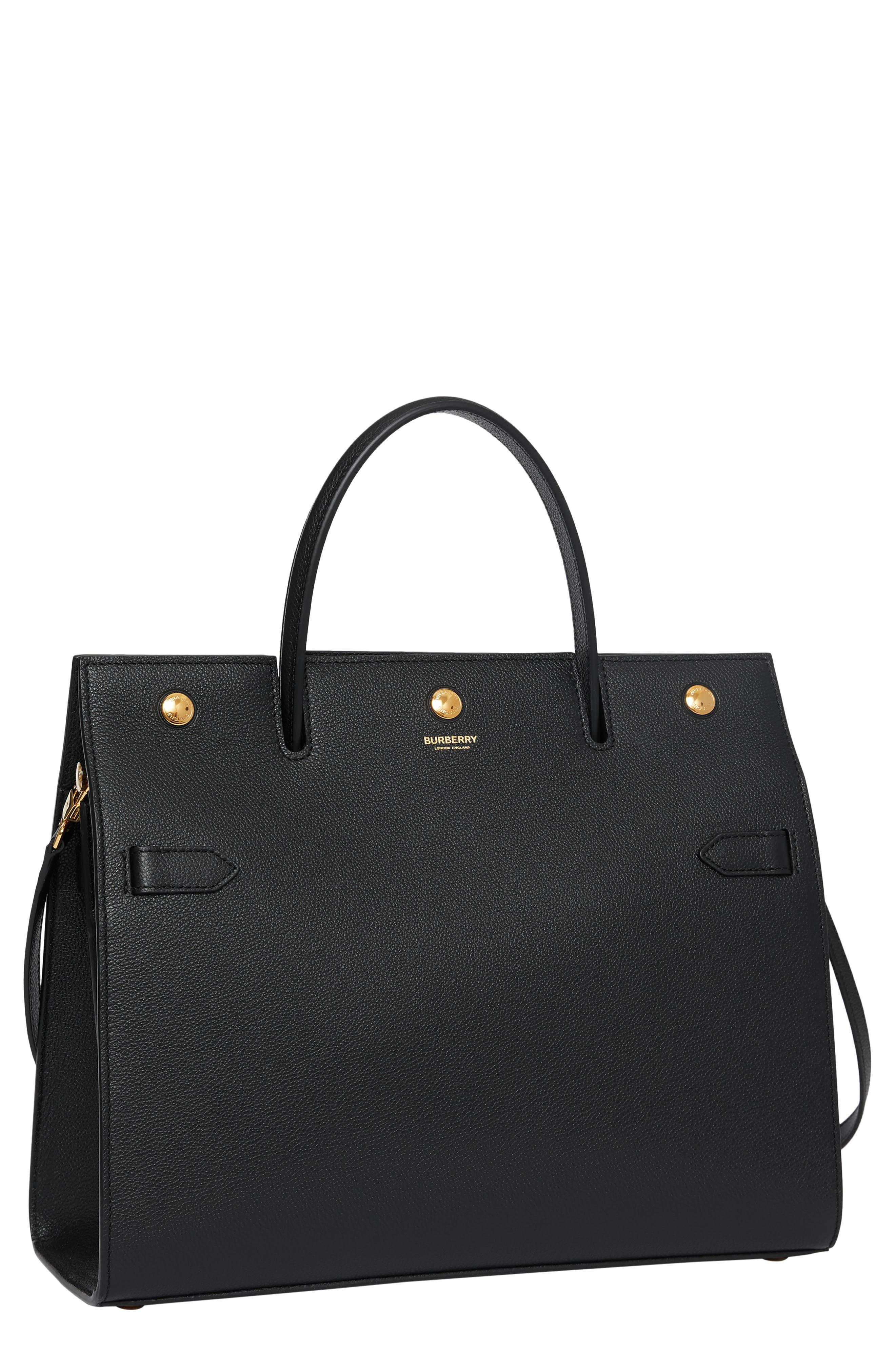 Burberry Medium Title Leather Bag   Nordstrom