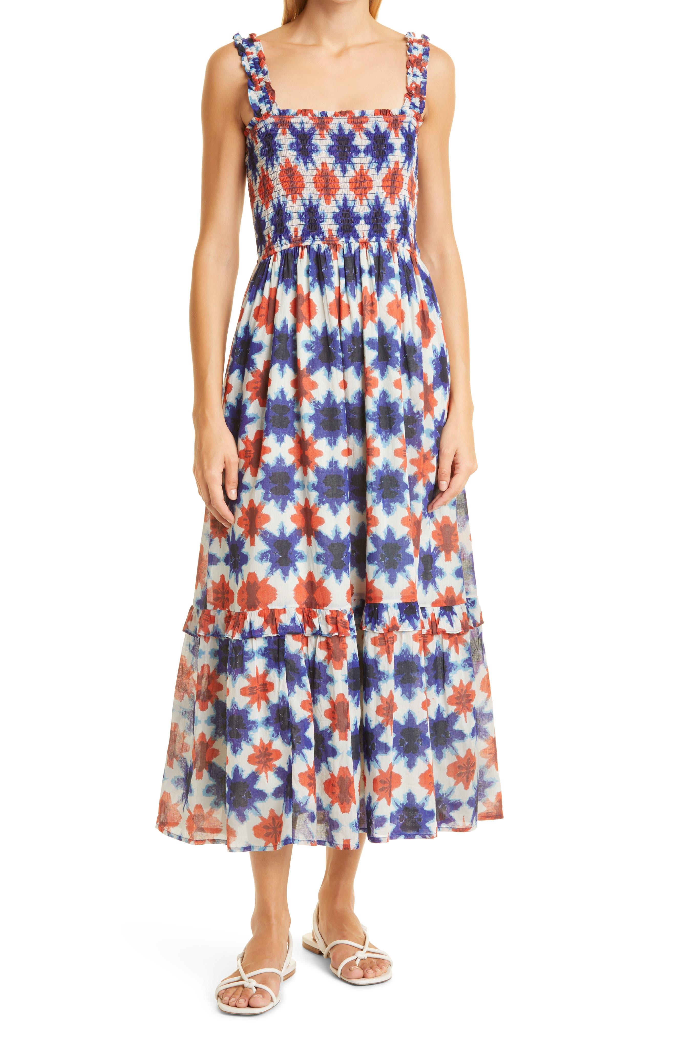 Dafina Print Organic Cotton Sundress