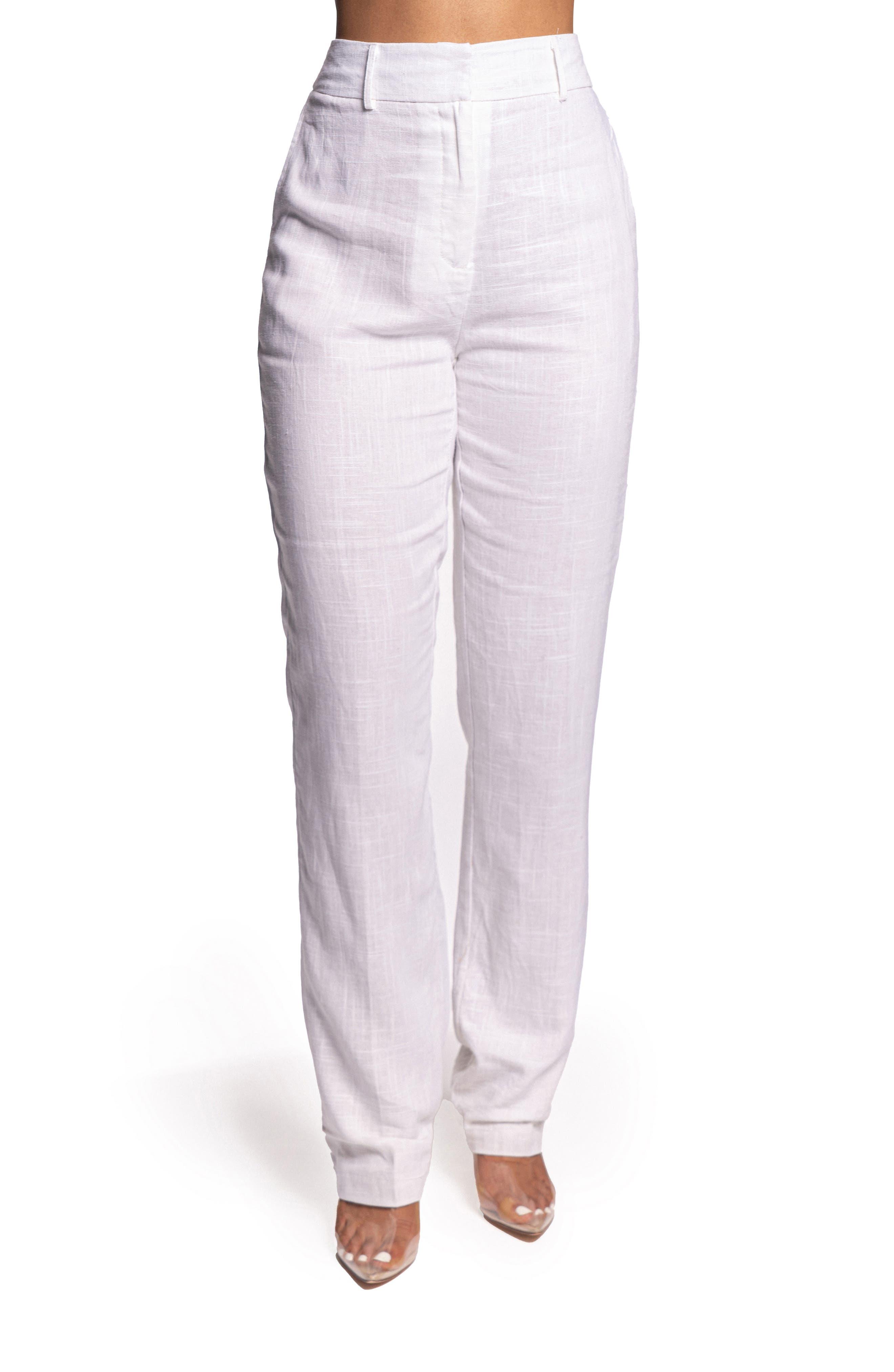 Maison Cotton & Linen Straight Leg Trousers