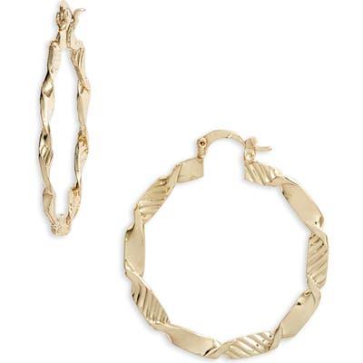 Ten79La Twisted Hoop Earrings