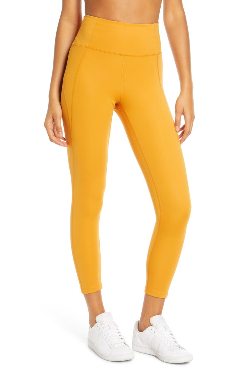GIRLFRIEND COLLECTIVE High Waist 7/8 Leggings, Main, color, HONEY