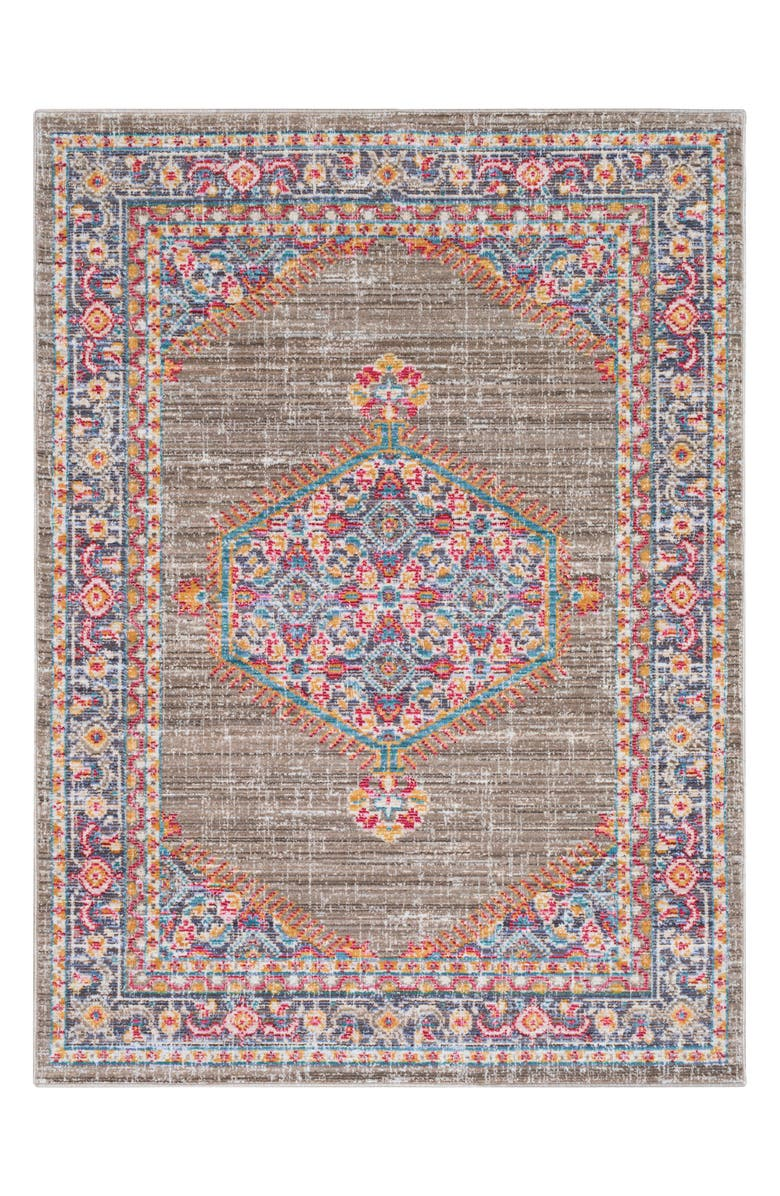 SURYA Home Germili Medallion Area Rug, Main, color, 200