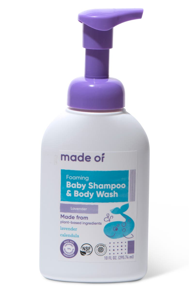 MADE OF Organic Lavender Baby Shampoo & Body Wash, Main, color, NO COLOR