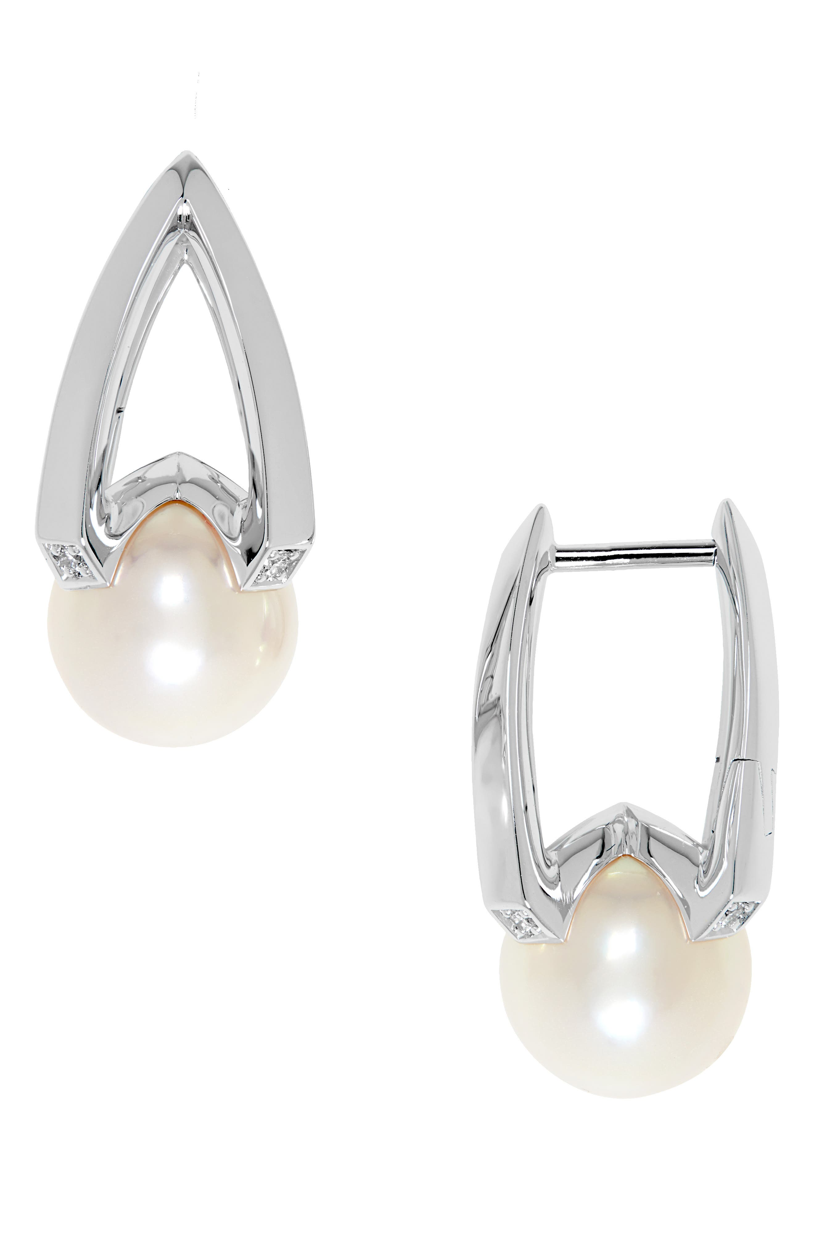 Diamond & Akoya Pearl Earrings