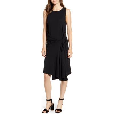 Chelsea28 Asymmetrical Tank Dress, Black
