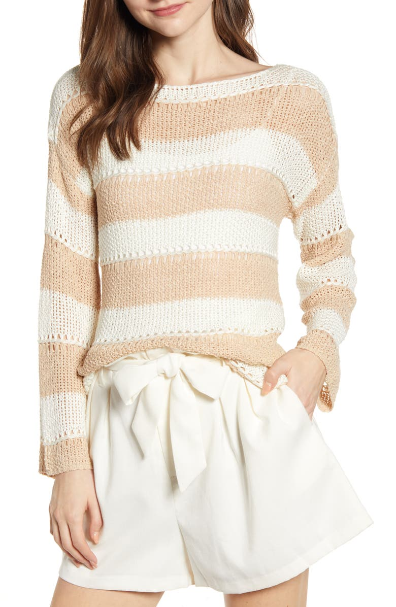 BISHOP + YOUNG Tape Yarn Desert Sweater, Main, color, DESERT