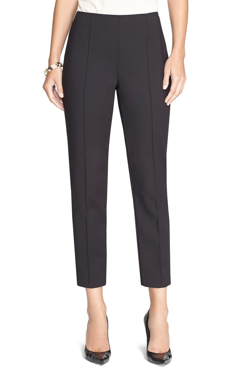 ST. JOHN COLLECTION 'Alexa' Stretch Micro Ottoman Ankle Pants, Main, color, 001