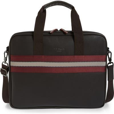 Ted Baker London Sandar Faux Leather Document Bag - Brown