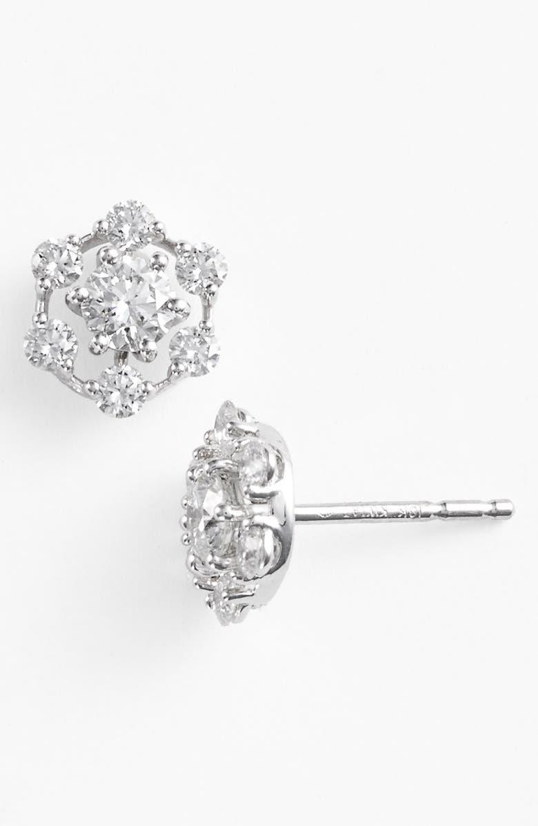 KWIAT 'Starry Night' Diamond Stud Earrings, Main, color, WHITE GOLD
