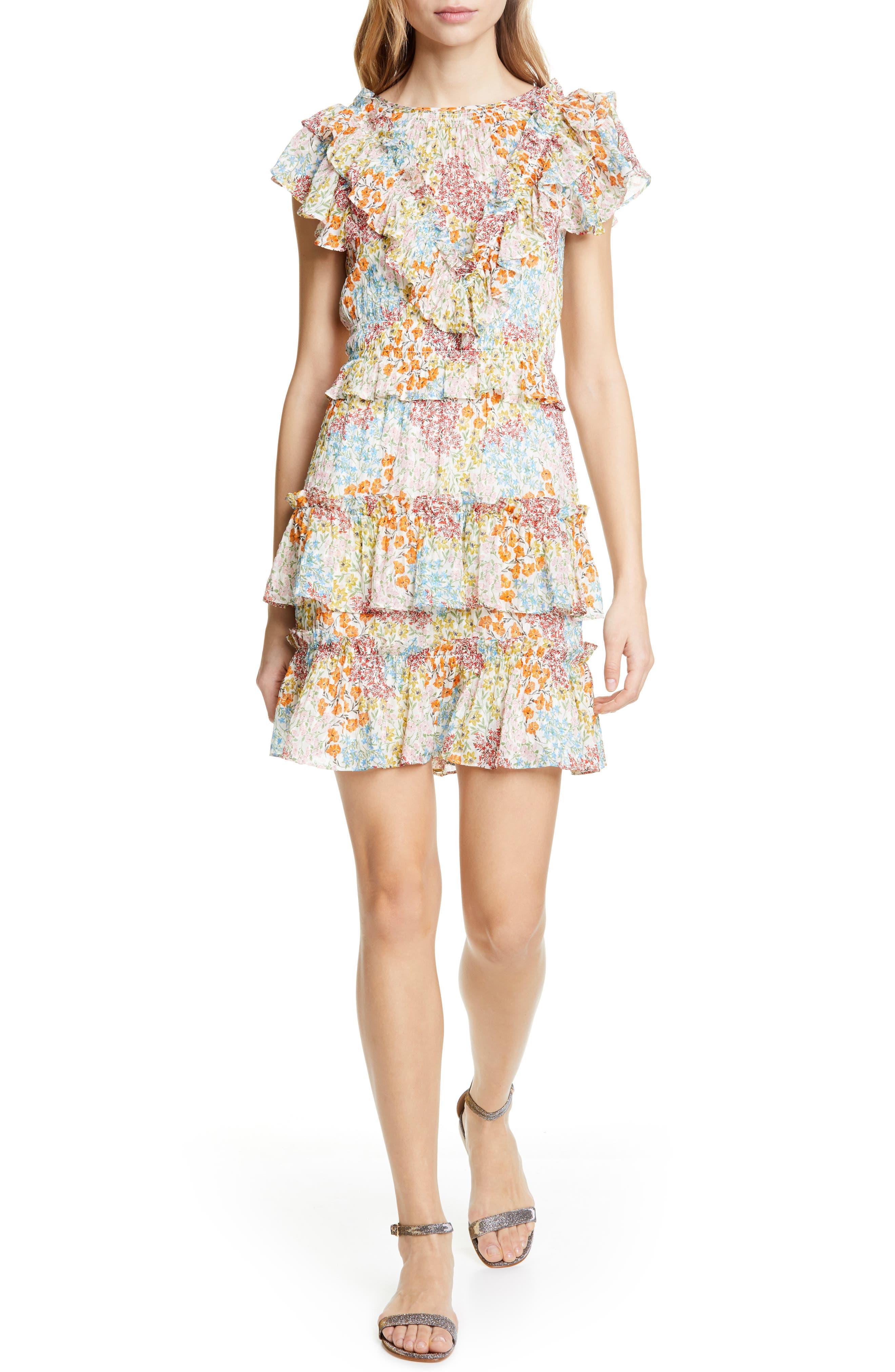 Rebecca Taylor Ava Ruffle Minidress, Ivory