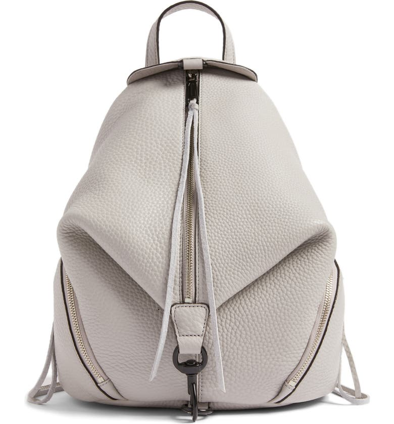 REBECCA MINKOFF Julian Leather Backpack, Main, color, 020