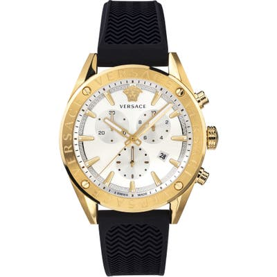 Versace Chrono Silicone Strap Watch, 4m