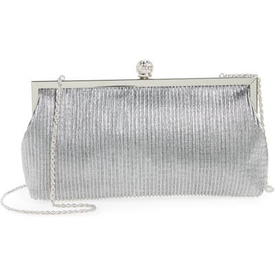 Nina Aneka Pleated Shine Clutch - Grey