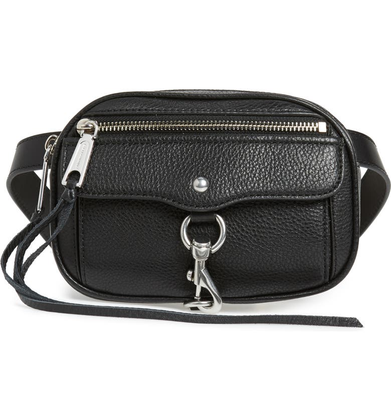 REBECCA MINKOFF Blythe Leather Belt Bag, Main, color, 001