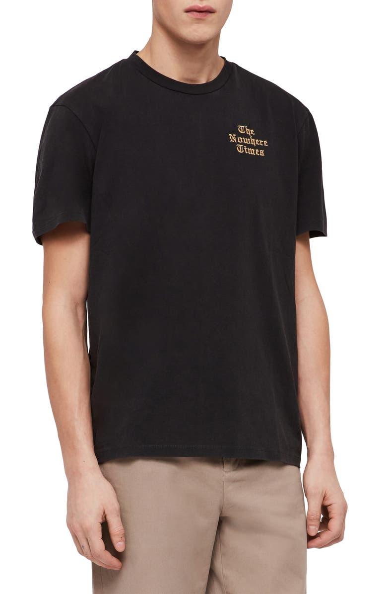 ALLSAINTS Nowhere Slim Fit Crewneck T-Shirt, Main, color, 003