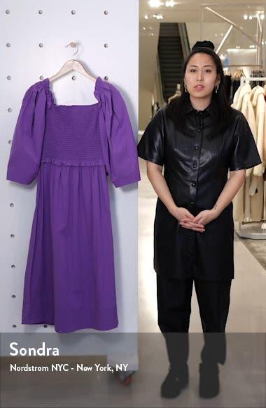 Tabitha Ruffle Smocked Stretch Cotton Dress, sales video thumbnail