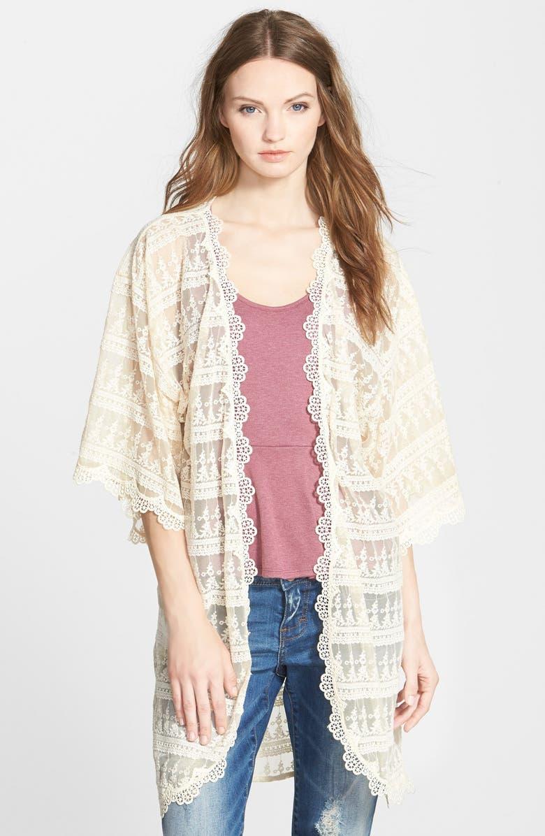 TAYLOR & SAGE Lace Kimono, Main, color, 900