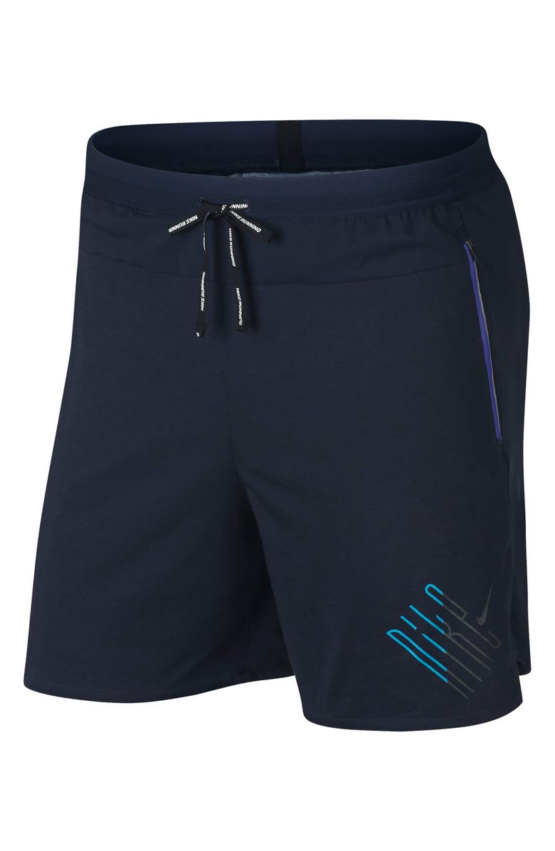 NIKE Running Wild 2-in-1 Shorts, Main, color, OBSIDIAN/ PERSIAN VIOLET