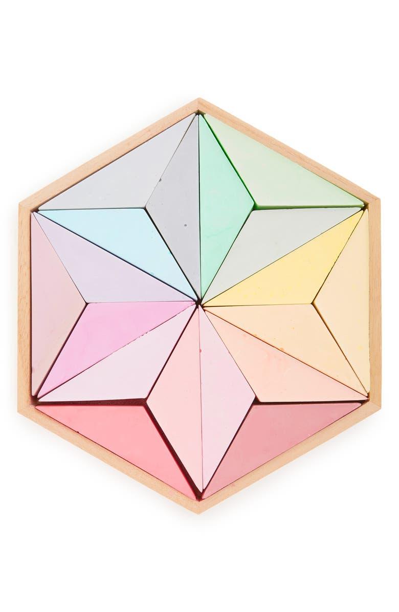 FREDERICKS & MAE Full Spectrum Chalk Set in Wooden Box, Main, color, MULTICOLOR