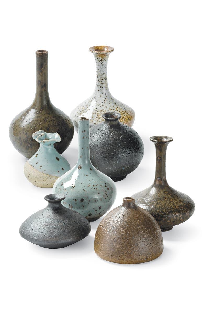 REGINA ANDREW Set of 8 Assorted Porcelain Bud Vases, Main, color, BLUE