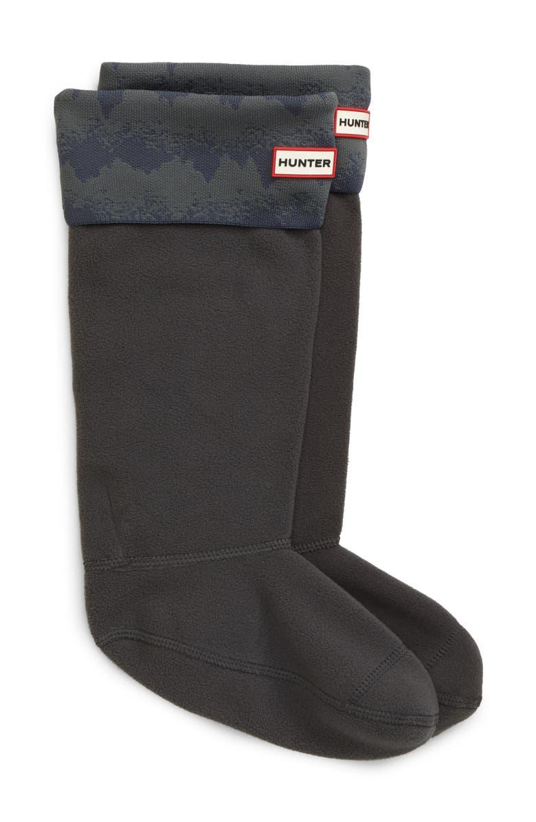 HUNTER Original Tall Knit Cuff Welly Boot Socks, Main, color, LUNA