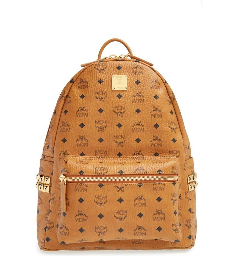MCM 'Medium Stark' Side Stud Backpack, Main, color, 200