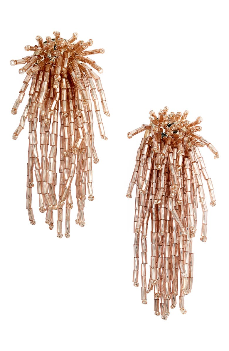 STELLA & DOT Fireworks Statement Earrings, Main, color, ROSEGOLD