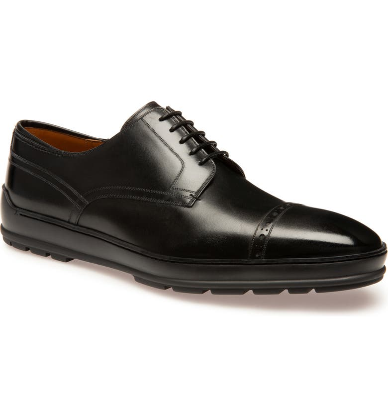 BALLY Reigan Cap Toe Derby, Main, color, BLACK