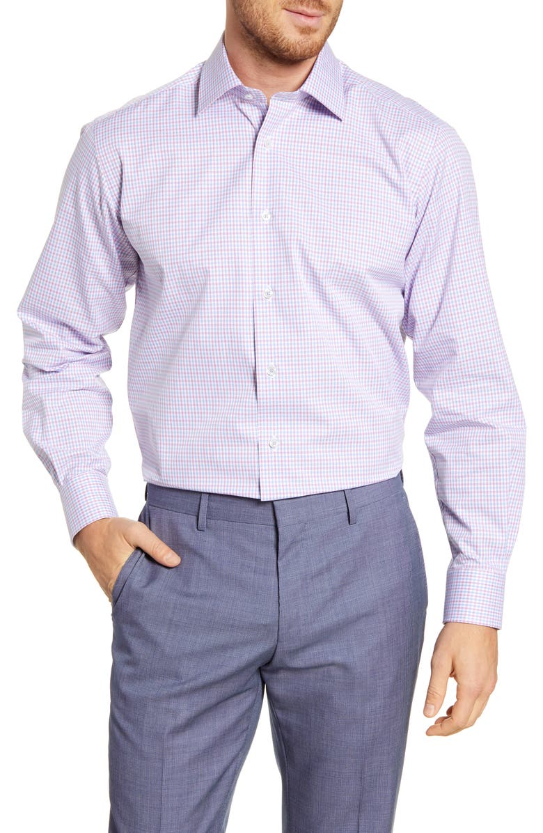 DAVID DONAHUE Regular Fit Check Dress Shirt, Main, color, 652