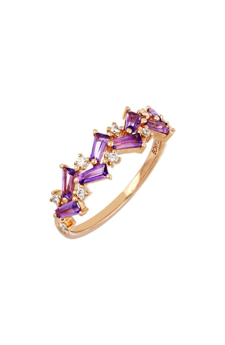 BONY LEVY Amethyst & Diamond Ring, Main, color, 712