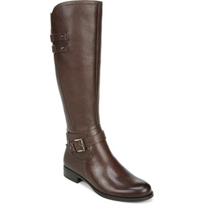 Naturalizer Jackie Tall Riding Boot, Regular Calf- Brown