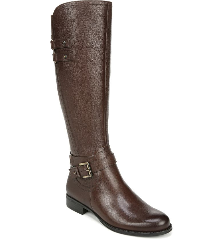 NATURALIZER Jackie Tall Riding Boot, Main, color, CHOCOLATE LEATHER