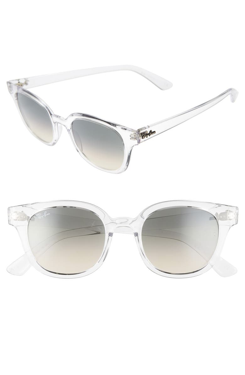 RAY-BAN 50mm Cat Eye Sunglasses, Main, color, 100