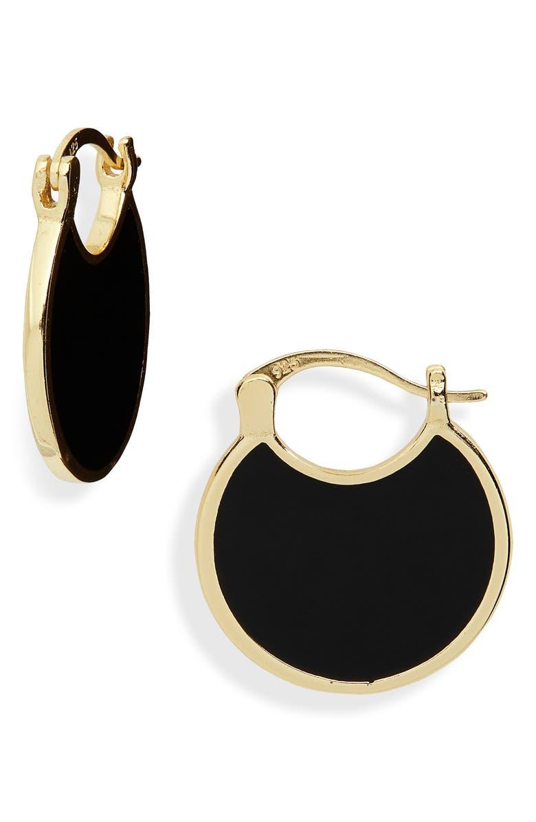 ARGENTO VIVO Montauk Huggie Hoop Earrings, Main, color, GOLD/ BLACK