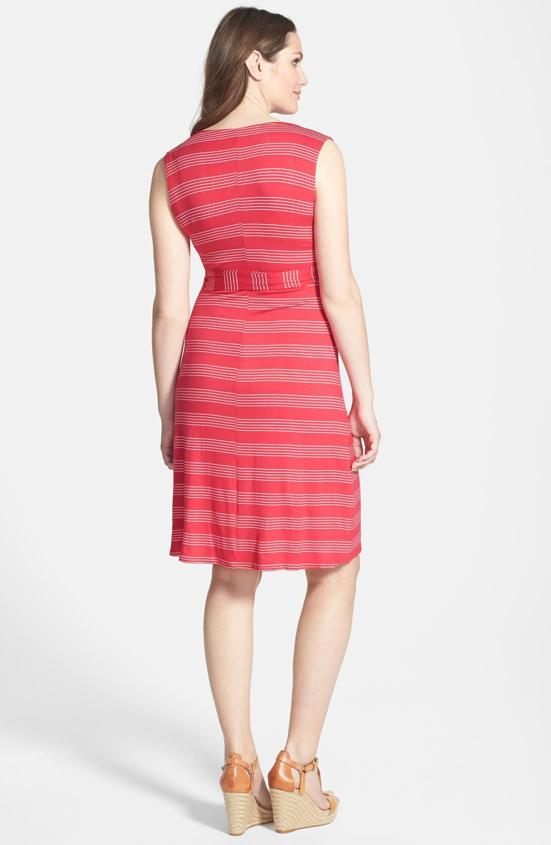 ,                             Sleeveless Wrap Maternity/Nursing Dress,                             Alternate thumbnail 8, color,                             640