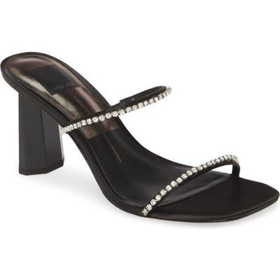 Dolce Vita Naylin Crystal Embellished Slide Sandal- Black