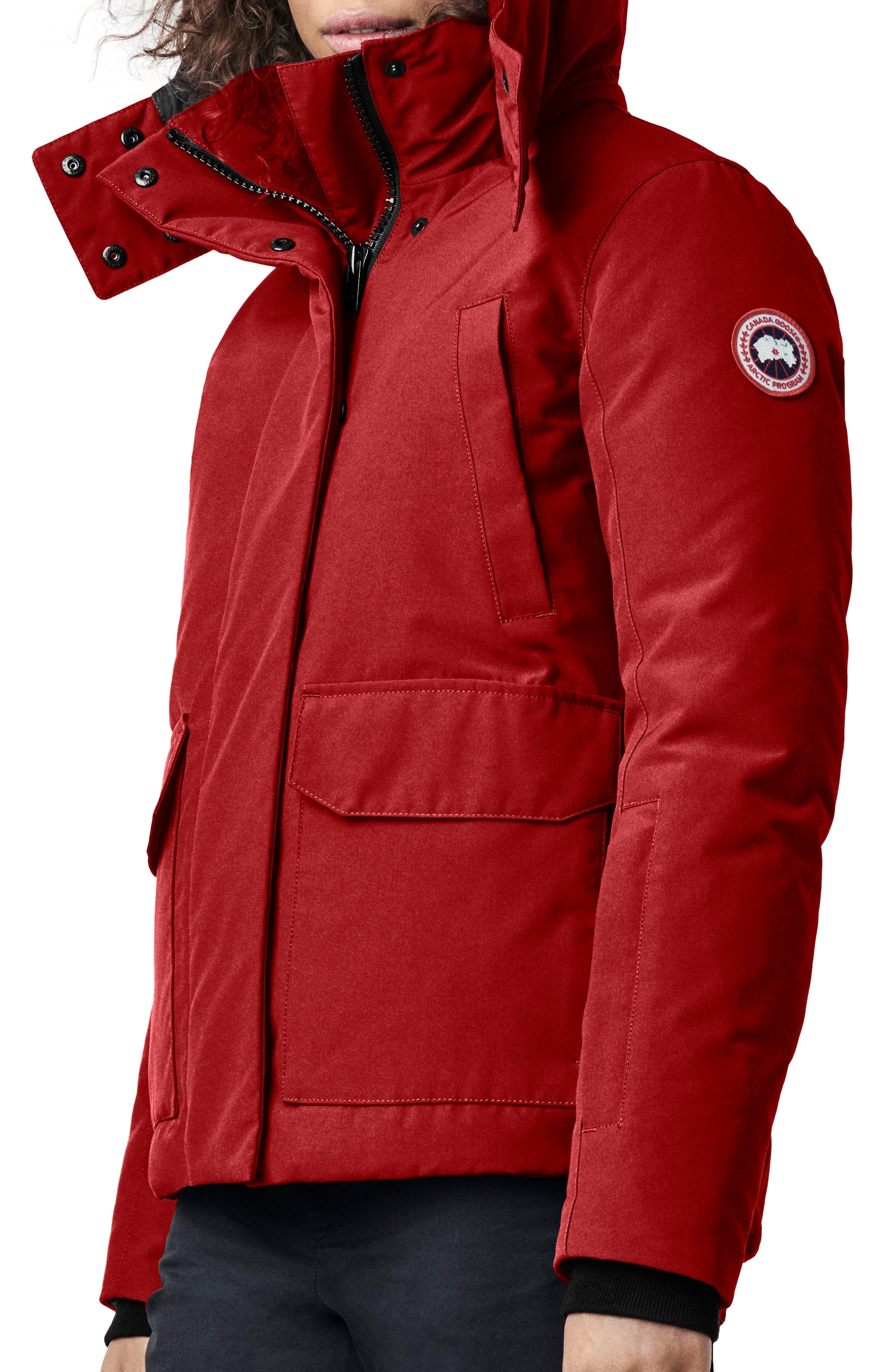 Canada Goose Blakely Water Resistant 625 Fill Power Down Parka, (14-16) - Red