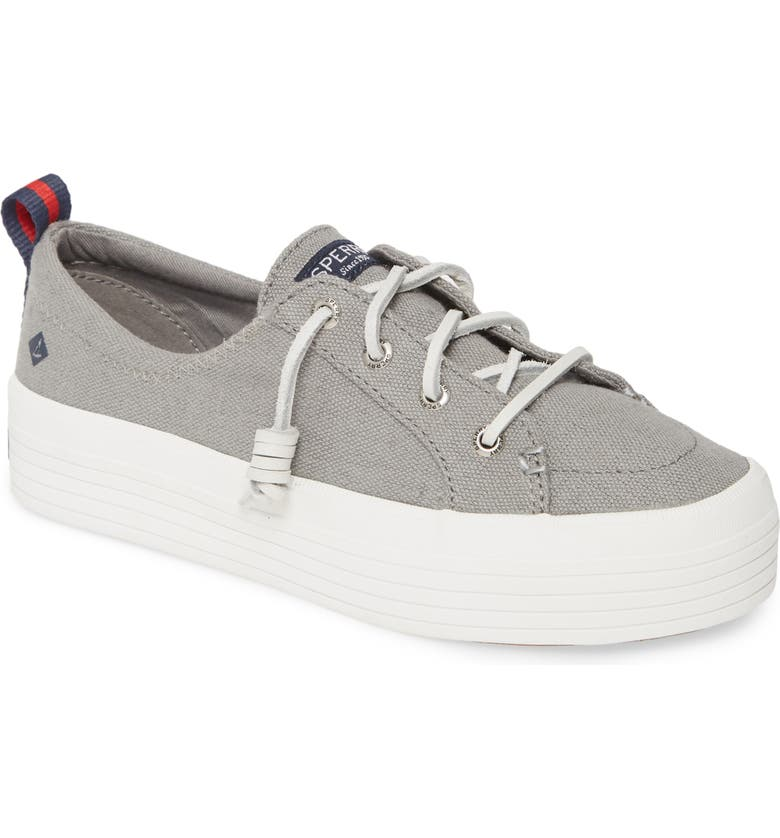 SPERRY Crest Vibe Platform Sneaker, Main, color, GREY CANVAS